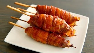 Mini BACON BOMB video recipe - How To make an insane Bacon & Cheese Bomb - Barbecued