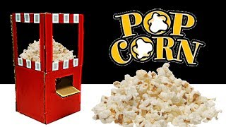 How to Make Popcorn Machine from Cardboard DIY