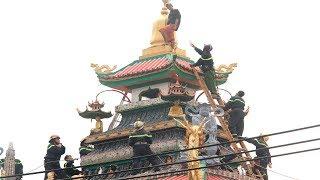 Cảnh sát nghẹt thở bắt tên ngáo đá cố thủ 10 giờ trên nóc chùa An Phú, quận 8, TP HCM