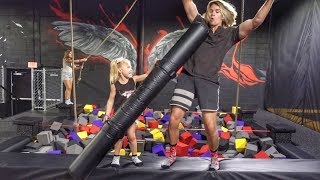 EVERLEIGH GETS TRAUMATIZED AT TRAMPOLINE PARK!!!