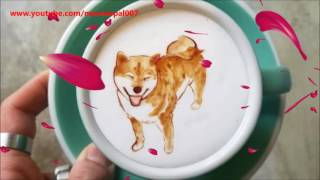 Amazing arts on Coffee created by Barista From Korea