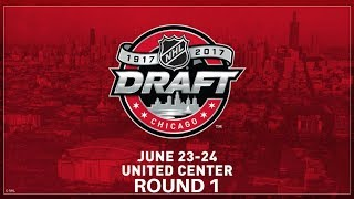NHL 2017 Entry Draft Round 1 Facecam Live!