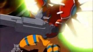 Digimon: Data Squad - GeoGreymon digivolve to RizeGreymon