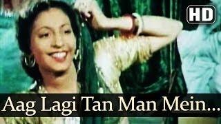 Aag Lagi Tan Man Mein (HD) - Aan (1952) Songs - Dilip Kumar - Nadira - Sheela Naik