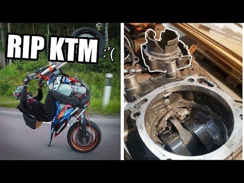 R.I.P KTM   KTM 450 Engine DESTROYED