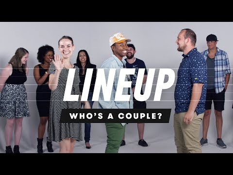 People Guess Who s a Couple from a Group of Strangers Lineup Cut