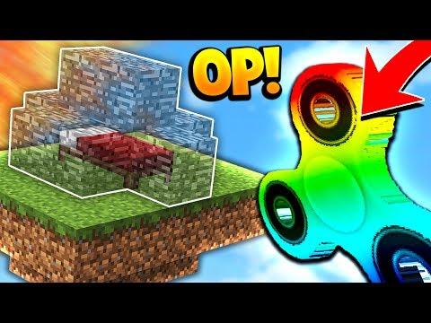 OP MINECRAFT RAINBOW FIDGET SPINNER Minecraft BED WARS Challenge