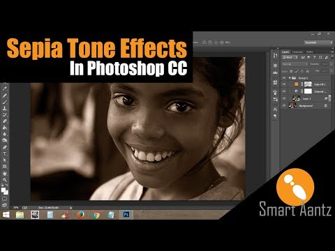 How to create a sepia tone in photoshop