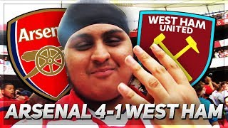 LACAZETTE ON FIRE!!! Arsenal 4-1 West Ham *EPIC MATCHDAY VLOG*