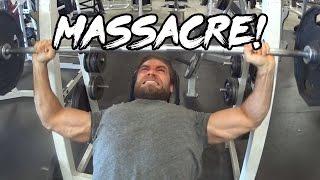 Chest & Triceps Gym Workout Massacre!!