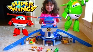 SUPER WINGS WORLD AIRPORT w/ Transform-a-Bots Figures | itsplaytime612