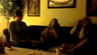 Mom and 2 daughters laugh attack