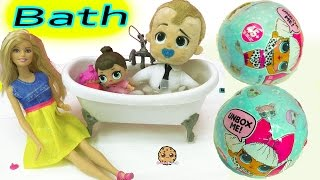 Barbie Babysits The Boss Baby & Surprise LOL Babies Surprise Blind Bag Balls