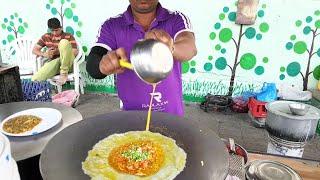 Yummy ! Omelette Keema Roll || Egg Recipe Hindi || Street Food Of Surat