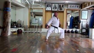 Sensei  Aleksandr Grib. Okinawa Honbu Dojo Goju Ryu. Kata Seiyunchin.