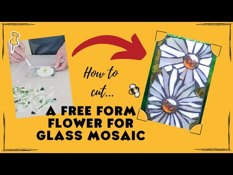 How to make a free form flower in stained glass mosaic