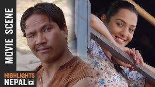 हैट्! बुद्धि तामांगले प्रियंका कार्कीलाई भगायो - Nepali Movie Purano Dunga Ft. Buddhi & Priyanka