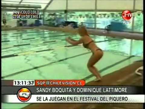 FELIPE AVELLO CON SANDY BOQUITA Y DOMINIQUE LATTIMORE FESTIVAL DEL PIQUERO EN SQP CHILEVISION