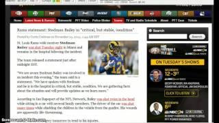 NFL Breaking News: Stedman Bailey Shot 2 times in Head