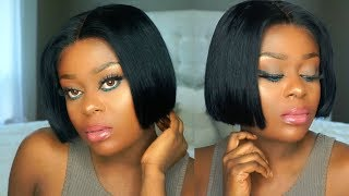 MOST NATURAL LOOKING FRONTAL WIG EVER | HOW TO CUT A BOB IN 5 SECOND | OMGHERHAIR