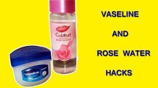 Vaseline & Rose Water That Will Change Your Life Forever - Hand Beauty Skin Care Vaseline Life Hacks