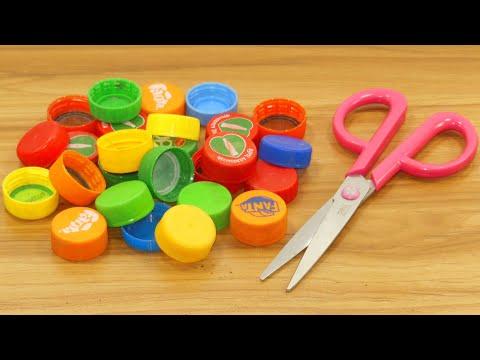 plastic bottle caps craft idea best out of waste plastic bottle caps reuse idea