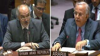 شاهد: مشادة قوية بين السفيرين السوري والسعودي بسبب جمال خاشقجي