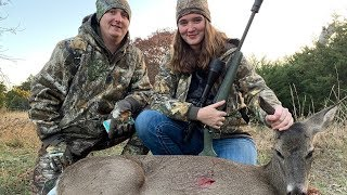 Texas DEER hunt!! (she shot her first deer)