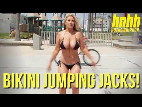 Jumping Jacks Bikini Challenge with Kip Force Ask a Hottie