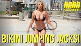 Jumping Jacks Bikini Challenge with Kip Force! Ask a Hottie
