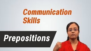 Prepositions :Best English grammar & Communication skills tips -by Mrs. Vennila Sathyamoorthi