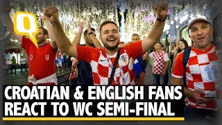 Croatian and English Fans React to World Cup Semi-Final in Moscow | The Quint