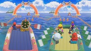 Super Mario Party - 2 vs 8 - Team Mario & Bowser vs Rival Very Hard Difficulty  Cartoons Mee
