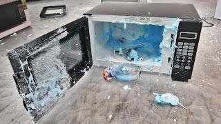 SHAVING CREAM EXPLODES INSIDE MICROWAVE!