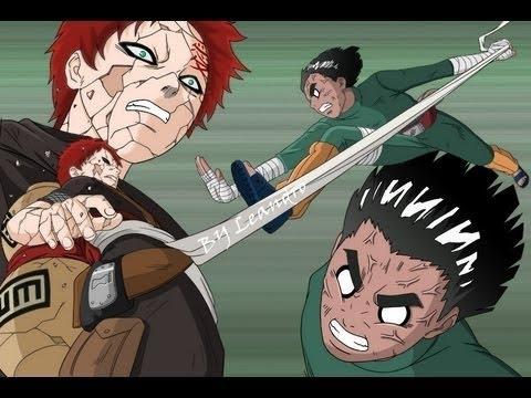 Naruto Rock Lee Vs Gaara SOLO BATALLA LATINO