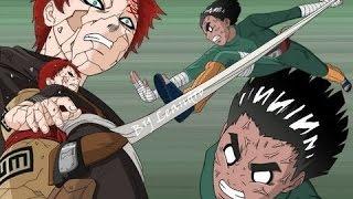 Naruto - Rock Lee Vs Gaara (SOLO BATALLA/LATINO)