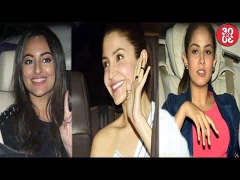Anushka-Mira Attend Sonakshi's Noor's Screening | Sanya Malhotra With A Friend