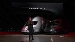Tesla shows off new electric semi-trucks amid struggles