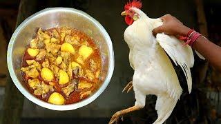 Bangali Style Potato & White Deshi Murga Jhol Recipe
