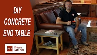 How to Make a Concrete Table | How to embed sliced agate, fossils, and coins in concrete