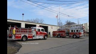 Fire Trucks Wait On A Train! Emergency Response Units Stuck At Railroad Crossing!