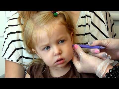 JB getting her Ears Pierced