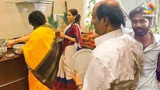 Rajini celebrates Pongal with Aishwarya & his grandsons | Dhanush VIP 2