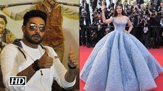 Abhishek is GUSHING over Aishwarya's Cannes look