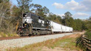 NS 3438 leads NS Train G66 in Whitesburg, GA