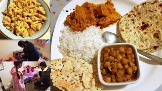 INDIAN SPECIAL DINNER ROUTINE || Finaly Good News has come || Kathal Masala, Tawa Naan & Bread Halwa