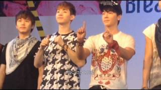 [FANCAM] 130215 Super Junior-M Break Down in BKK Press Conference -THE END (Donghae focus)