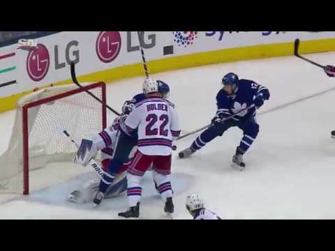Connor Brown 15th Goal of the Season! 2/23/2017 (New York Rangers vs Toronto Maple Leafs)