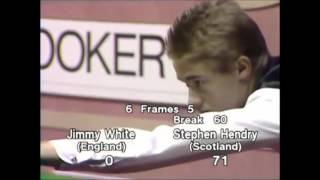 Stephen Hendry (very young) super quick century break under 6 Minutes!!!
