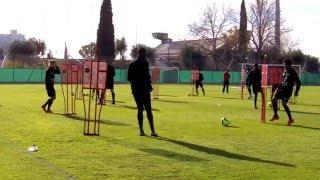 Séance entrainement football - OGC Nice - Gammes techniques